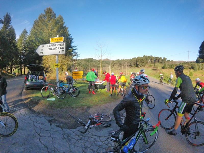 avituallament marxa cicloturista amer