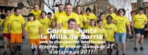 Correm Junts amb la Discapacitat Intel·lectual 2017 @ Passeig Reina Elisenda - Plaça de Sarrià BCN