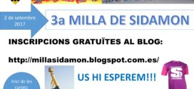 Inscripcions Milla de Sidamon 2017