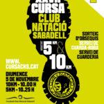 cartell cursa club natacio sabadell