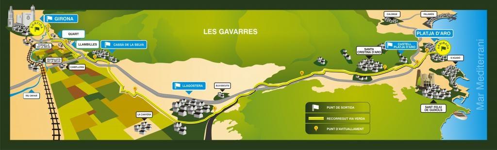 Marató Vies Verdes MVV GIRONA 2018 @ Platja d'Aro (bus) / Girona 42km / Cassà de la Selva 30km / Llagostera 21km / Sta. Cristina 10km