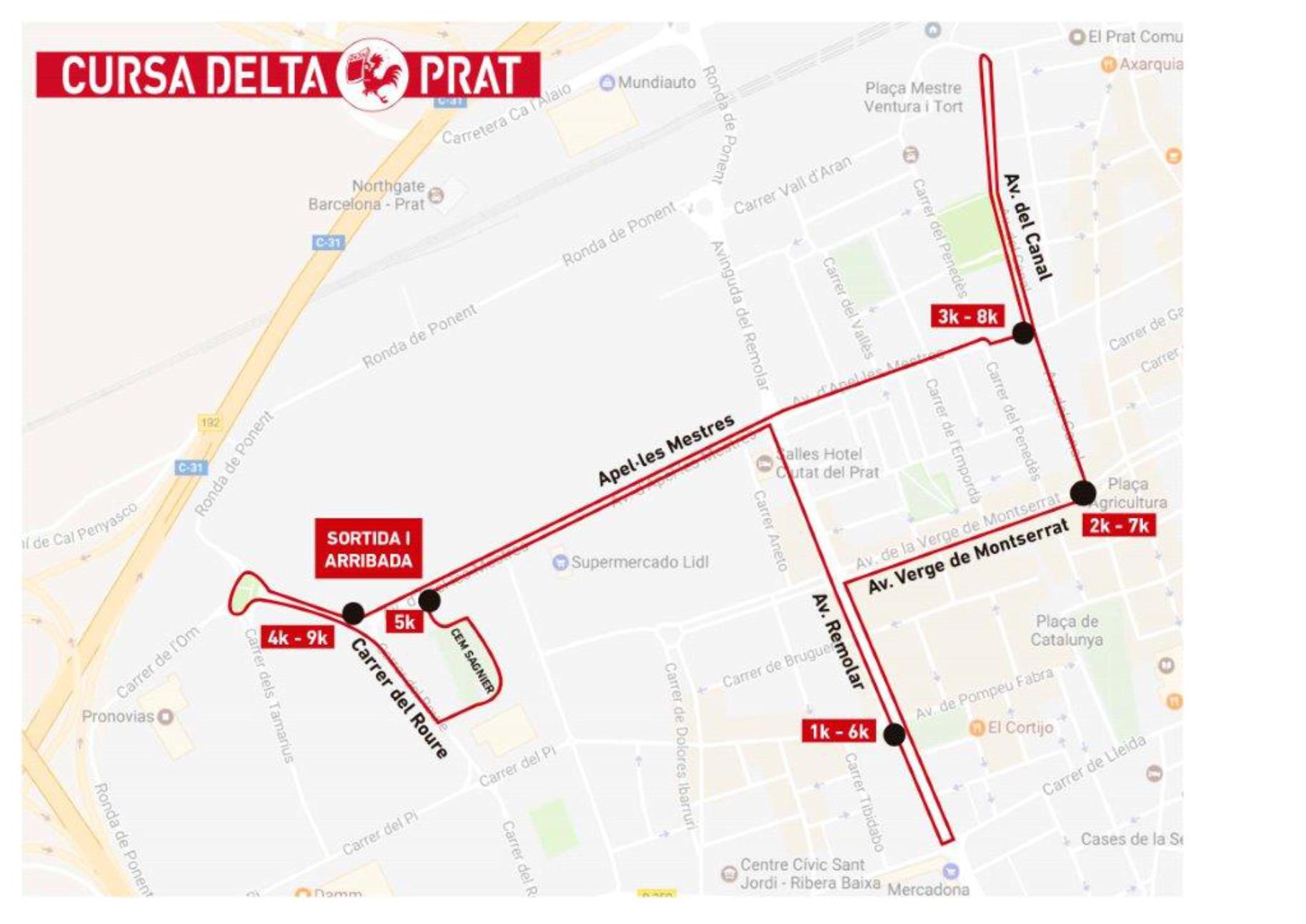 Cursa Delta Prat 2018 @ Pistes   Moisès   Llopart   del   Complex   Esportiu   Municipal Sagnier del Prat de Llobregat