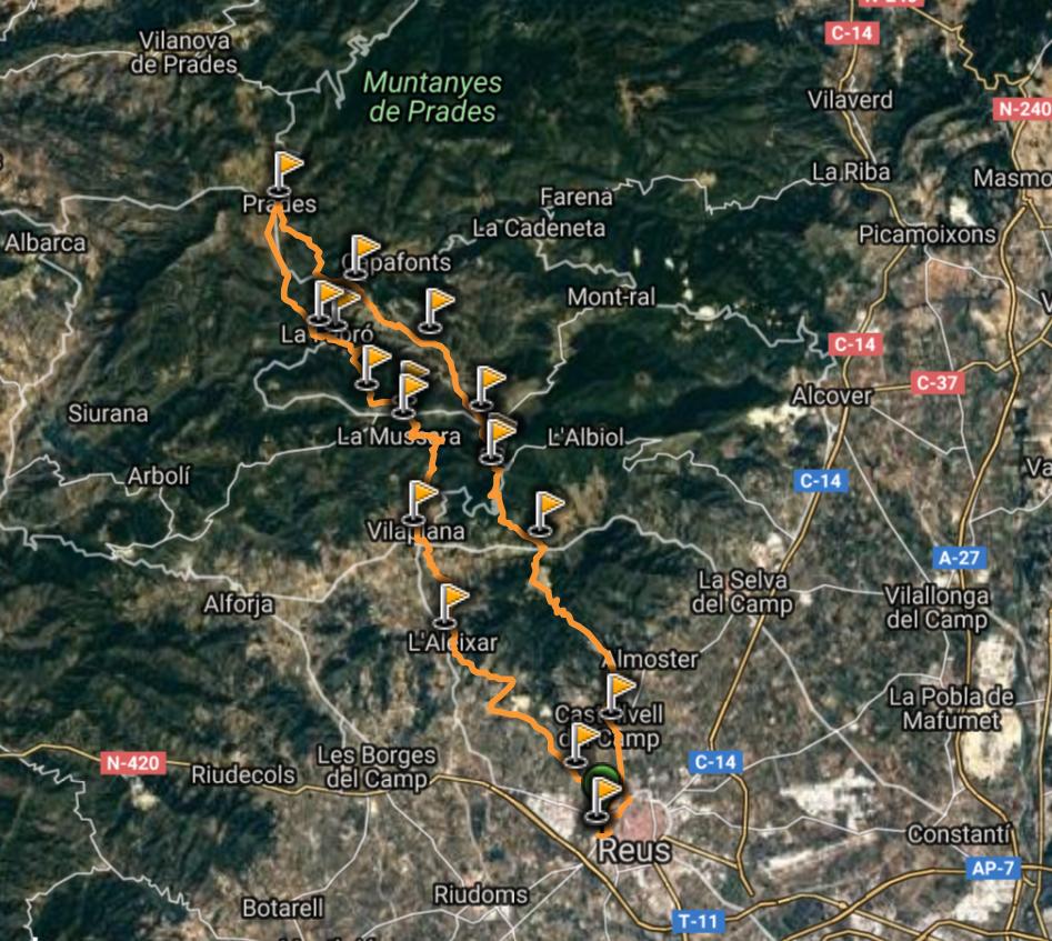 Reus Prades Reus Caminada i Trail Running 2018 @ Piscines Municipals de Reus